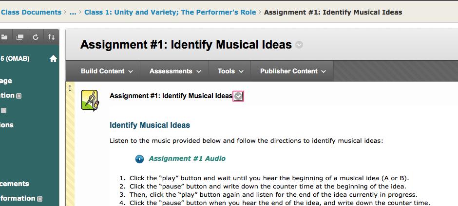Music assignment