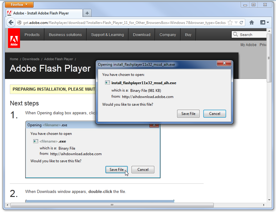 verify flash player installed